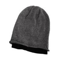 帽子男韩版潮冬天男士冬季针织帽毛线帽嘻哈帽堆堆帽羊毛套头帽冬