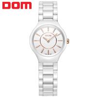 多姆(DOM)手表 女士石英手表 潮流时尚超薄陶瓷商务女表