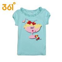 361度童装正品夏款女童时尚休闲短袖透气T恤 K6523107