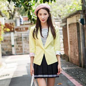 森马休闲西装 显瘦 春装女士韩版修身型白色小西服上衣外套女
