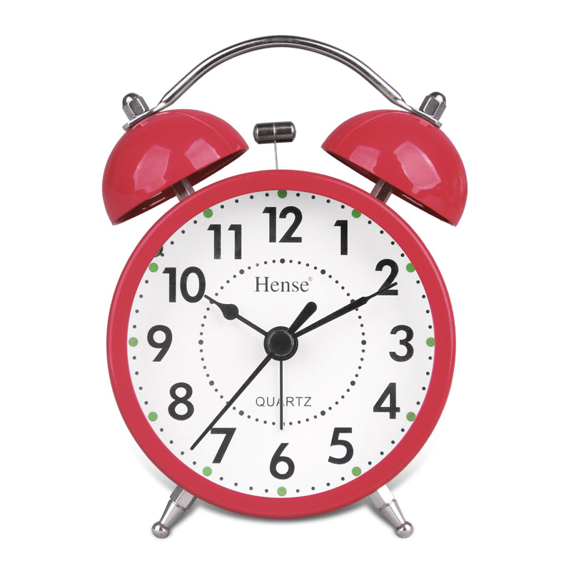汉时钟表 闹钟创意儿童电子钟卡通可爱静音懒人3英寸小闹钟ha01 此款