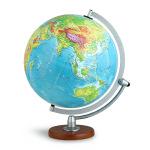 博目地球仪:30cm中文数字地形立体地球仪(LED感应灯光型)3003