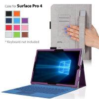ikodoo 爱酷多 微软Surface Pro4 12.3英寸/ Pro3 12.2英寸 可手持型保护套皮套 带插卡可做支架 surface pro4 平板电脑保护套 苏菲pro4 支架手持款