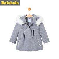 【6.26巴拉巴拉超级品牌日】巴拉巴拉童装女童呢衣小童宝宝上衣冬装毛呢 外套儿童 女孩