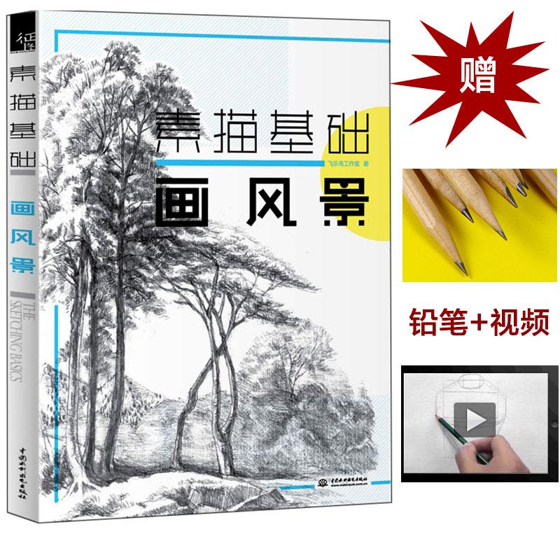 基础素描风景画教程教材书籍 风景素描简单易上手 素描自学手绘风景画
