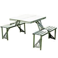 户外桌椅 折叠桌椅五件套 户外休闲铝合体桌椅 连体桌椅