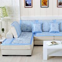 福存家居 夏天沙发藤席坐垫 夏季凉席沙发垫 沙发巾套罩 真皮布艺沙发凉垫防滑 飘窗垫