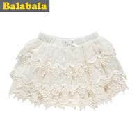 巴拉巴拉童装女童不规则边蛋糕短裙中大童半身裙儿童秋装新款
