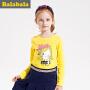 【6.26巴拉巴拉超级品牌日】巴拉巴拉童装女童长袖T恤中大童上衣秋装儿童卡通体恤女