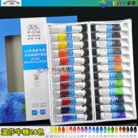 英国温莎牛顿24色水彩颜料 画家*24色套装水彩画颜料10ml