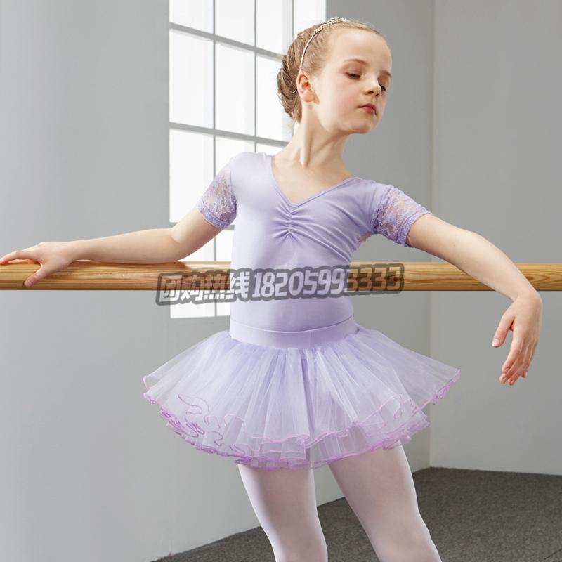 儿童舞蹈服装女童练功服幼儿芭蕾舞考级跳舞服小孩子体操服_紫色舞蹈