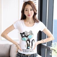 波柏龙 2016夏季新款短袖T恤女短袖夏天tshirt卡通纯棉纯白