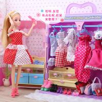 一号玩具芭比娃娃套装女孩换装衣橱过家家公主洋娃娃儿童女孩玩具大礼盒
