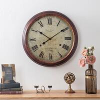 欧美式客厅卧室创意个性墙面装饰 金属铁艺罗马数字挂钟