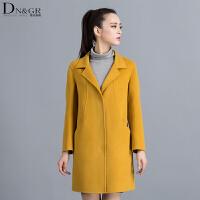 秋冬女士中长款外套时尚修身双面羊毛大衣C16011