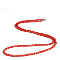 戴和美 精选优质南红玛瑙时尚满肉柿子红手串项链(附鉴定证书)