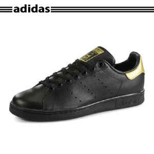 Adidas/阿迪史密斯stan smith复古黑色金标复古女板鞋大童BB0208