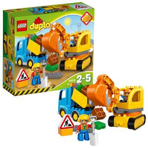 [当当自营]LEGO 乐高 DUPLO得宝系列 卡车和挖掘车套装 积木拼插儿童益智玩具10812