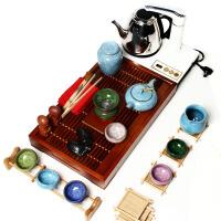 尚帝 功夫冰裂陶瓷茶具 冰裂釉茶具套装 小兰花冰裂套装+2合1电热壶 T-YFHL009