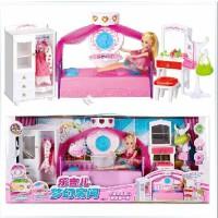 全店满99包邮!乐吉儿A001梦幻房间衣橱洋布芭比娃娃套装大礼盒正品2014女孩玩具
