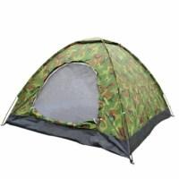 户外露营野营用品 双人军绿迷彩帐篷钓鱼帐篷防风防雨野营露营户外帐篷