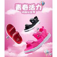七波辉女童鞋凉鞋2017新款夏季软底女大童沙滩鞋儿童公主凉鞋女
