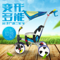 ROLLPLAY如雷儿童三轮车脚踏车溜娃神器幼儿2-5岁宝宝手推车童车