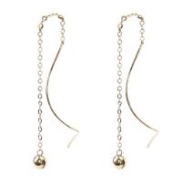 戴和美珠宝首饰耳饰 精选14K金时尚简约大气耳环