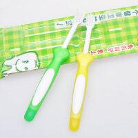 贝亲儿童牙刷 婴儿训练牙刷(绿色+黄色) 1-3岁宝宝*牙刷10375