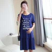 孕妇装 夏装 上衣2016新款时尚宽松大码孕妇裙中长款孕妇连衣裙夏季16B38