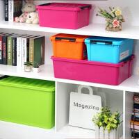 炫彩整理箱 收纳箱 塑料 百纳箱 床底收纳箱 车载整理箱 桔色