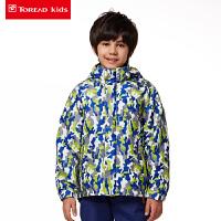 探路者童装 男女童印花风格系列三合一套羽绒冲锋服