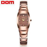 多姆(DOM)手表  钨钢 石英女士手表 时尚潮流商务女表 复古 水钻手表
