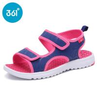 361度童鞋正品2017夏季新款女童沙滩凉鞋中大童魔术贴沙滩鞋