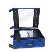 拉杆化妆工具箱带灯泡多功能化妆拖箱大号带镜子化妆箱