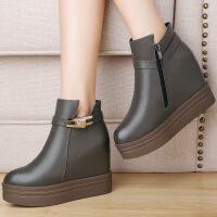 莫蕾蔻蕾新款内增高时尚休闲女短靴6D591