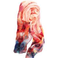 春秋冬季女百搭丝披肩围巾两用丝巾长款纱巾百搭丝披肩围巾两用