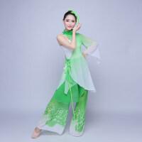 古典舞演出服表演服秧歌舞蹈服装水墨民族女伞舞江南伞舞新款