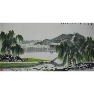 黄正襄台湾山水画家、海峡两岸书画家联谊会副会长 春雨江南