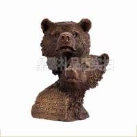 纯铜熊摆件 动物头商务礼品*办公室工艺装饰品 创意礼品