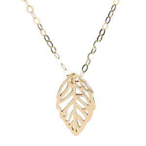 戴和美珠宝首饰项链 精选14K金叶子项链