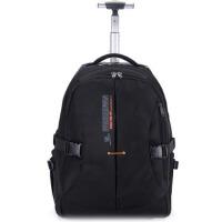 休闲户外双肩拉杆包配电脑层电脑拉杆包大容量登山包书包旅行商务出差登机箱旅游箱旅游用品