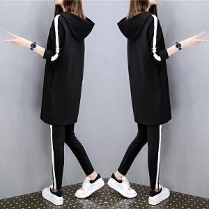 【满200减100】 夏季套装女时尚两件套2017新款 韩版刺绣雪纺衫娃娃领衬衫+短裤