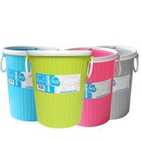 茶花 圆型套袋垃圾桶 塑料桶 收纳桶 卫生桶 厨房 时尚创意垃圾桶 1219