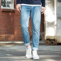 森马水洗牛仔裤 春装 男士韩版中低腰小直筒男装长裤潮流
