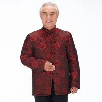 2015中老年男士唐装外套老年人 唐装大码加厚中式棉袄中国风棉衣