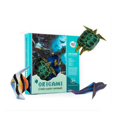 益智手工材料 动物场景折纸_海底世界立体场景折纸 造型逼真 亲子互动