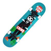 DASTE 专业入门四轮滑板 新手成人双翘滑板 成人公路整板刷街滑板 蓝斑点