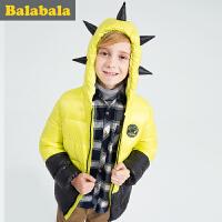 5.25抢购价:140元 巴拉巴拉童装男童羽绒服中大童学生 冬装儿童羽绒连帽外套
