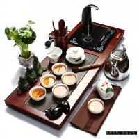 尚帝  陶瓷茶具套装 汝窑茶具孟宗竹茶盘 电磁炉茶具茶盘套装 Z-HH3R584